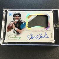 BLAKE BORTLES 2014 NATIONAL TREASURES #286 CENTURY PATCH AUTO ROOKIE RC #'D /25