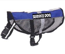 Reflective Service Dog Mesh Vest Pet Coat Harness With Removable Magic Patches