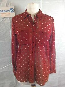 Mint Velvet Autumn Print Shirt Size 10