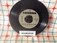 "BOB DYLAN KNOCKIN' ON HEAVEN'S DOOR 7"" 45 vinyl record + juke box title strip"