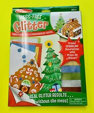 Mess - Free Glitter Christmas Tree and Gingerbread House by Melissa and Doug New