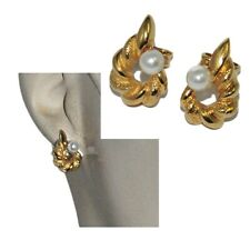 Earrings Nails Gold Plated 18 Gold Pearl Pearly Jewel