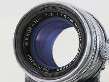 Nippon kogaku Nikkor H C 5cm F2 1:2 Leica LTM39 Mount Lens,Exc++ From JP#6284