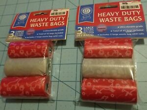 American Kennel Club Brand: 3 Pack Of Heavy Duty Doggie Waste Bag - 2 Sets, NEW