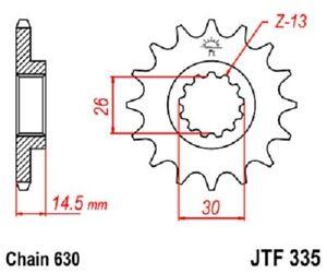 JT Sprockets Steel Front Sprocket 15T 630 Pitch JTF335.15