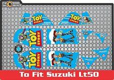 suzuki lt50 quad graphics stickers decals lt 50 laminated blue