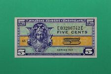 Military Payment Certificate Series 521 5c Beautiful Little Note Crisp Sharp