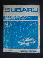1989 Subaru Service Manual Sections 4 5 & 6 Vehicle Car Repair Book Fuji Heavy