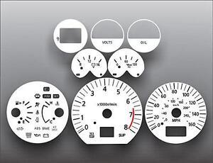 Fits 2003-2005 Nissan 350Z Automatic Dash Instrument Cluster White Face Gauges