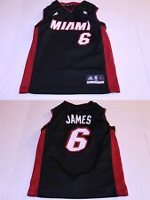 Youth Miami Heat Lebron James S (8) Jersey (Black) Adidas Jersey