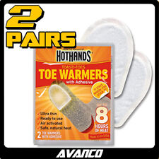 2 x 1 PAIR HotHands Toe Warmer 8 Hours Heat Pack Feet Foot Pairs Odourless NEW
