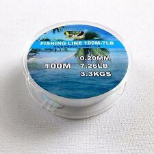 100M 7.26LB 0.2mm Fishing Line Super Power Nylon Mono filament Strength Lake Sea