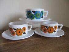 3 tasses et sous tasses arcopal lotus