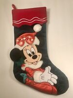 NEW Disney Parks Exclusive LARGE Minnie Mouse Plush Christmas Holiday Stocking