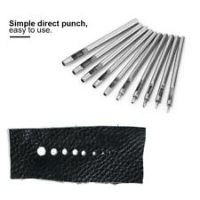 10X Die Punch Hole Snap Rivet Setter Base Kit Set For Leather Accessories Tools