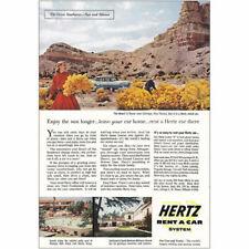 1956 Hertz: Chimayo, New Mexico Vintage Print Ad