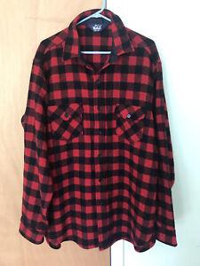 Woolrich Wool Flannel Shirt Jacket Buffalo Plaid Mens XXL
