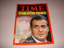 TIME Magazine, November 3, 1975, SPAIN, FRANCISCO FRANO, JUAN CARLOS!