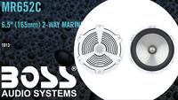 """Boss Audio MR652C 6.5"""" 2-Way Marine Speakers 350 Watts/Pair White Full Range New"""