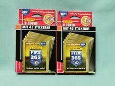 Panini Fifa 365 2021 Sticker 2 x Blister je 9 Tüten
