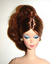 Silkstone Nude Barbie Doll Brunette W/Earrings For Ooak sk17