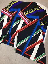 Italian digitally printed silk viscose CREPE fabric 132 cm X 95 cm piece NEW