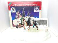 1995 Lemax Hearthside Christmas Village 54106 - Animated Skating Pond