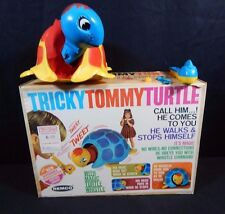 REMCO 1968 TRICKY TOMMY TURTLE & BOX WHISTLE  Sound Activated Battery Operated