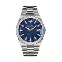 Orologio Solo Tempo Uomo Bulova 96B220 Cassa Acciaio Quadrante Blu Data
