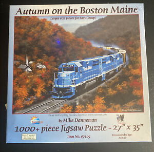 "JIGSAW PUZZLE ""Autumn On The Boston Maine"" 1000 PIECES 19"" X 30"" Mike Danneman"