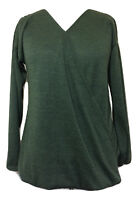 Womens B. YOU Green Long Sleeve Wrap Front V Neck Top - UK Size 8 10 12 14 16 18
