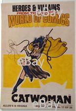 DC Comics HEROES & VILLAINS New Zealand Gum Card POSTER - CATWOMAN Batman