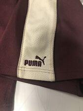 Mens Large Puma Shorts L Burgundy Maroon Beige Athletic Early 2000's Drawstring