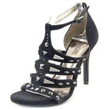 Sandalias y chanclas de mujer negro sintético, talla 36