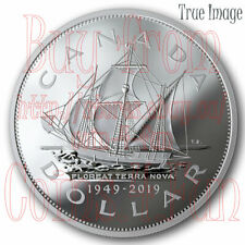 1949-2019 70th Anniversary of Newfoundland Joining Canada $1 Pure Silver Coin