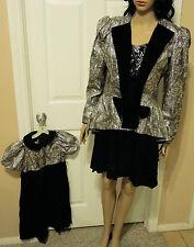 Vintage Jessica McClintock Sz8 Formal Jacket & Matching Girl's Dress Made USA