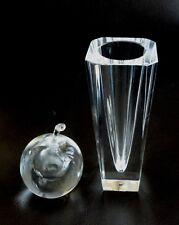 2 MCM Sweden Glass Kosta Lindstrand LH 1457 Apple Perfume Bottle Orrefors Vase