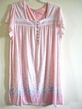 Ladies Night Gown Peach  Floral Print Size XL  (16-18)