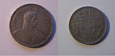 SVIZZERA - 5 Franchi 1932 -  argento