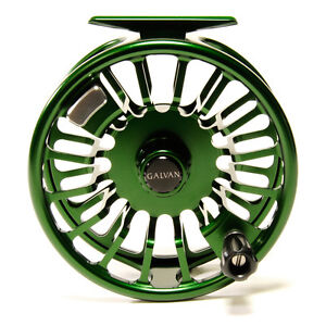 GALVAN T-6 TORQUE 6 FLY REEL GREEN FOR A 6/7 WEIGHT ROD USA MADE FREE $80 LINE