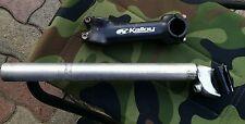 tubo reggisella mtb 27,2 in alluminio + pipa attacco manubrio kalloy 100mm