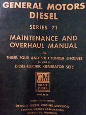 General Motors Detroit Ser 71 371 471 671 Diesel Engine Service Manual Generator