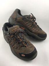 Hi-Tec Bandera Low Mens Size 12M Brown Leather Hiking Climbing Trail Boots-554