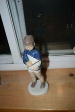 B&G Copenhagen Porcelain Boy Holding Sailboat Figurine # 2380 Denmark
