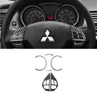For Mitsubishi Lancer Carbon Fiber Speedometer&Steering Wheel Button Cover Trim