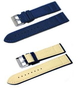Cinturino per orologio in cordura blu 2 nato con fondo in lorica ansa 20mm watch