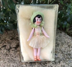 """ANTIQUE BISQUE MINIATURE  WIRED JOINTS DOLLHOUSE DOLL 3"""""""
