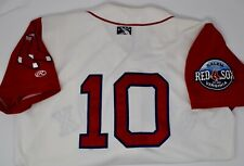 Boston Red Sox Salem Minor League 2009-2011 Game Used Jersey #10 Include Hissey