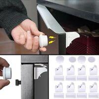 8 cerraduras 2 llaves magnética para niños Seguridad para hogar puertas cocina