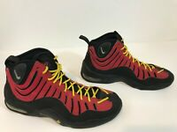 Nike Air Bakin' 2013 Tim Hardaway Size 10.5 Fire Red/Yellow Black Excellent